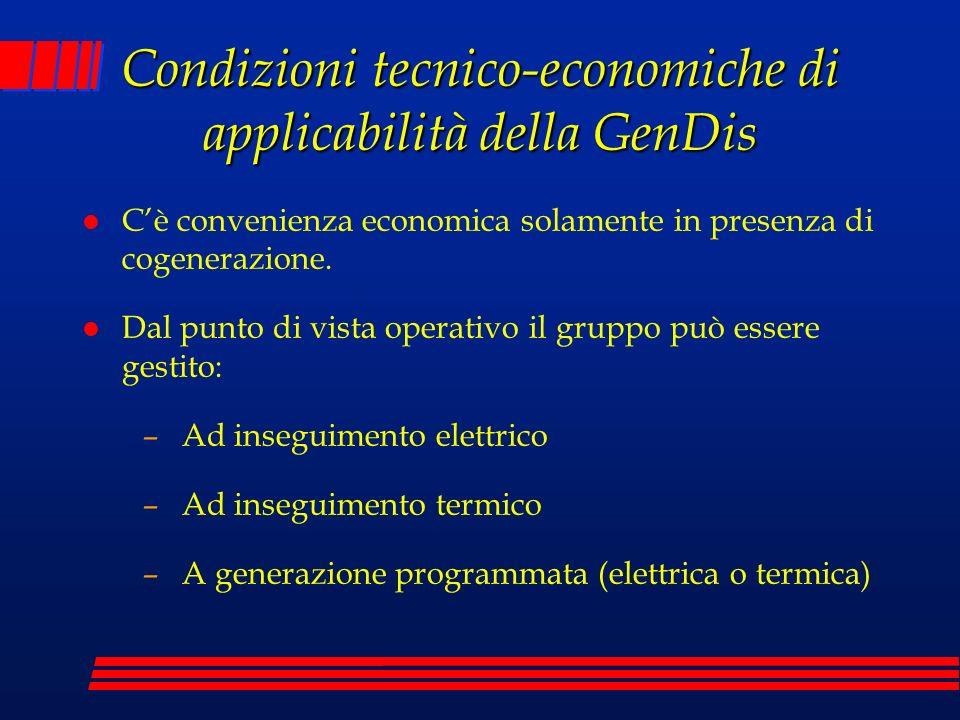 Condizioni tecnico-economiche di applicabilità della GenDis