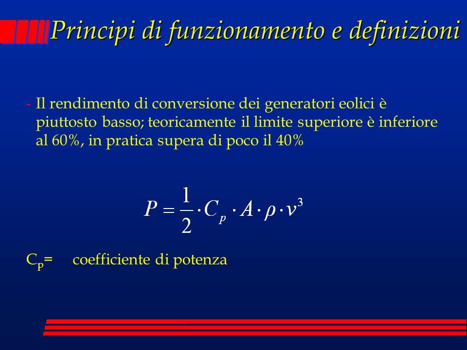 Principi di funzionamento e definizioni