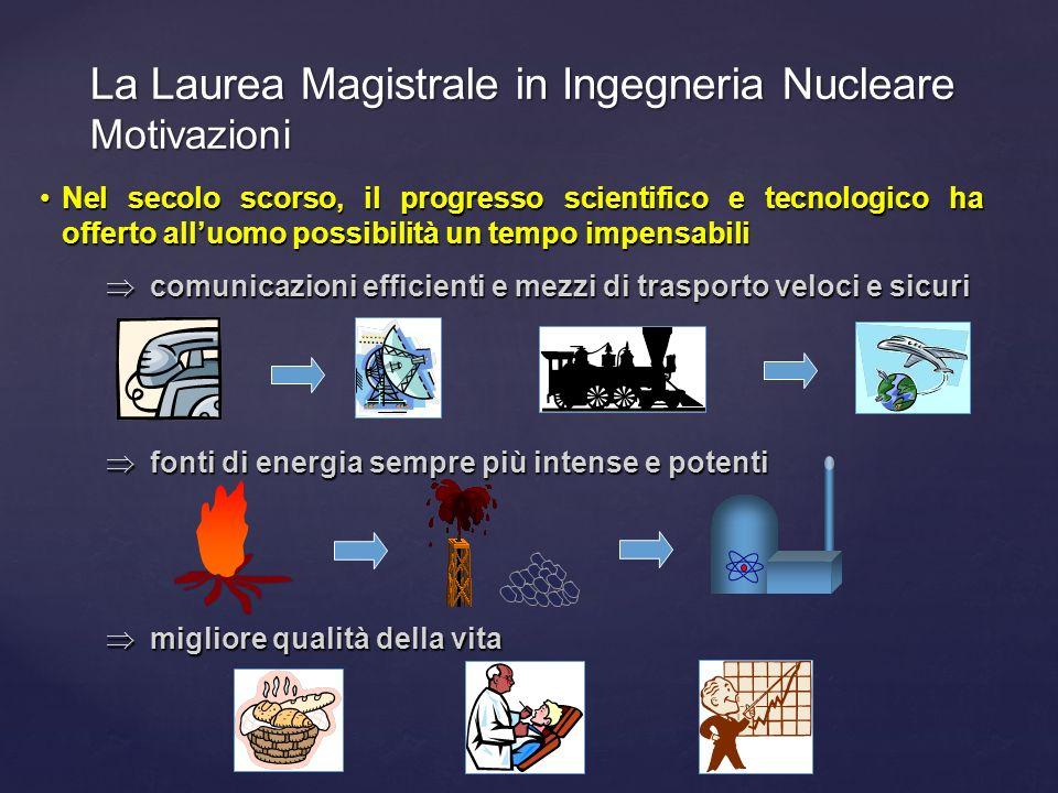 La Laurea Magistrale in Ingegneria Nucleare Motivazioni