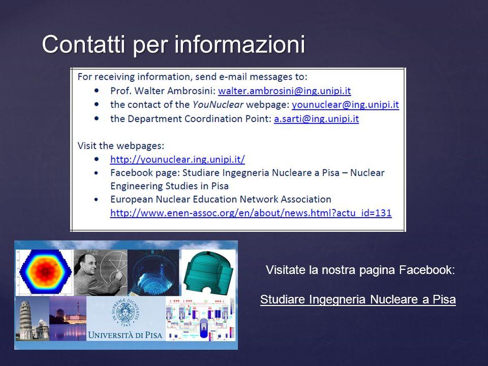 Contatti per informazioni