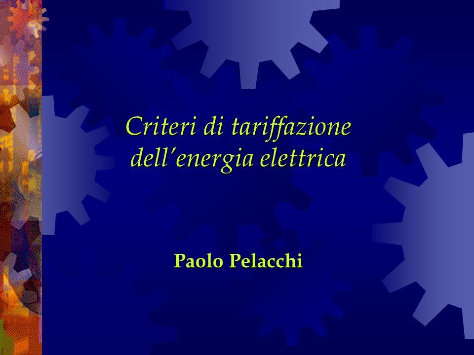Criteri di tariffazione dell'energia elettrica