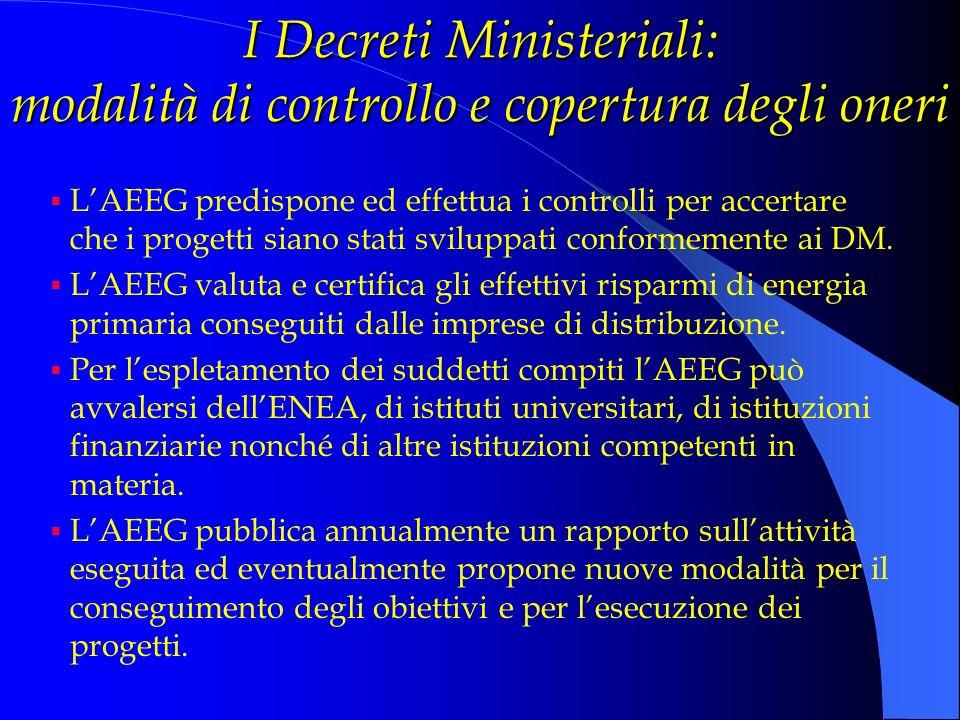 I Decreti Ministeriali: modalità di controllo e copertura degli oneri