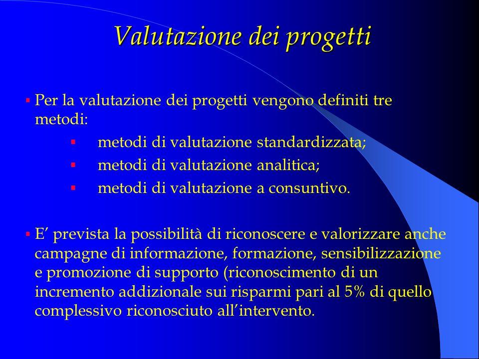 Valutazione dei progetti