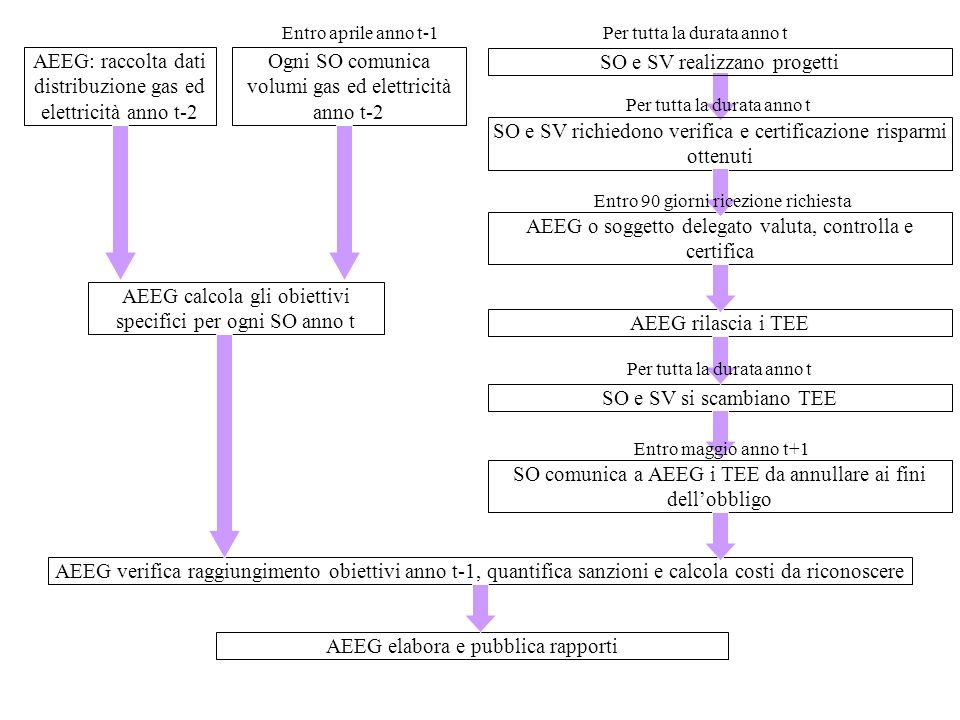 AEEG: raccolta dati distribuzione gas ed elettricità anno t-2