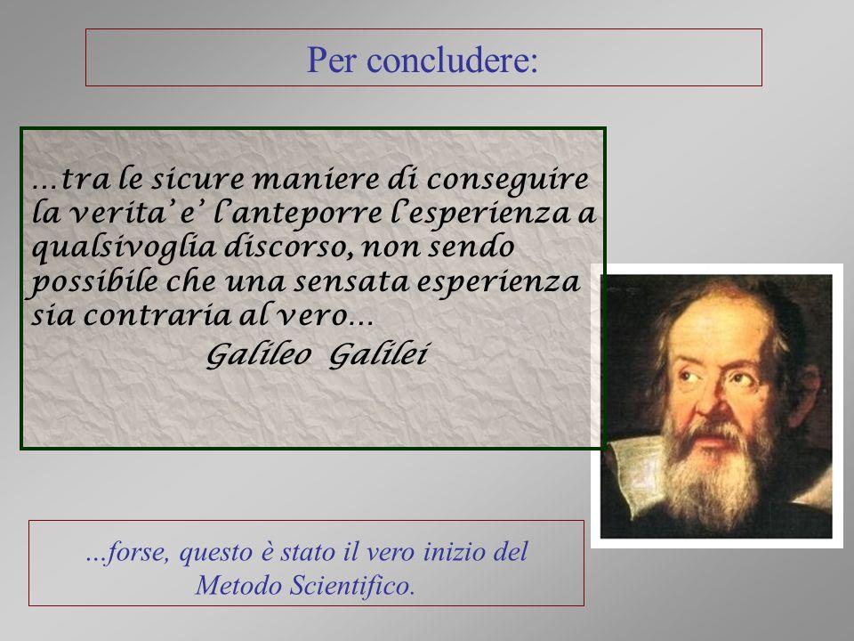…forse, questo è stato il vero inizio del Metodo Scientifico.