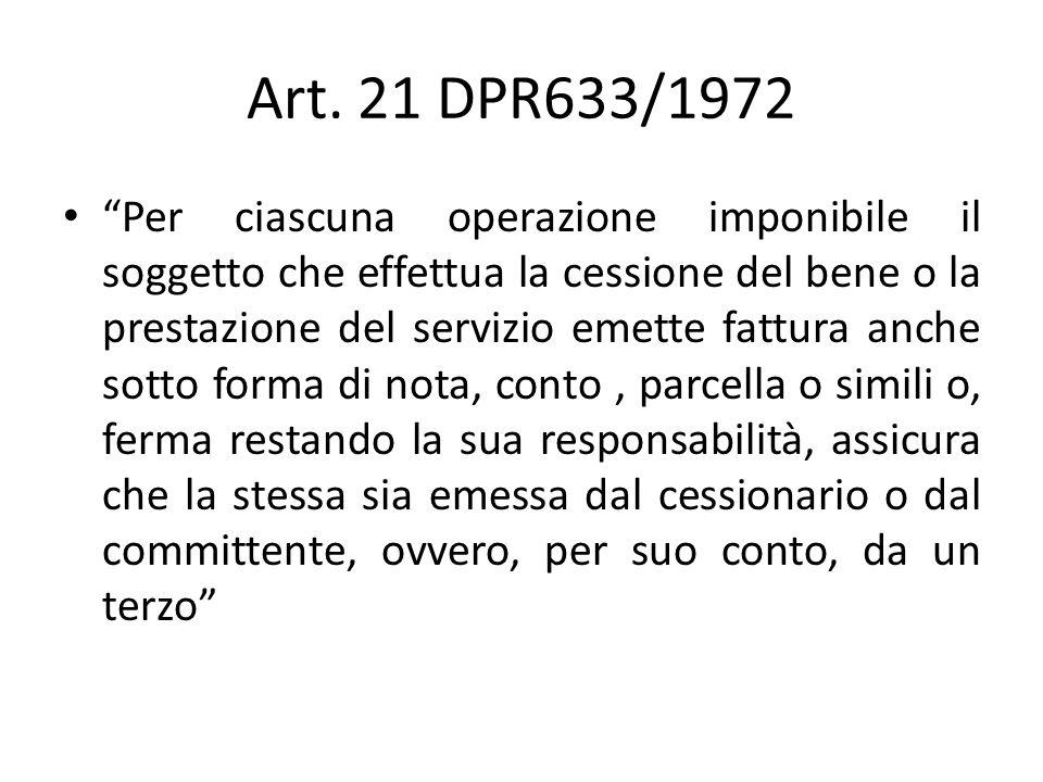 Art. 21 DPR633/1972