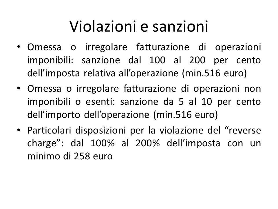 Violazioni e sanzioni