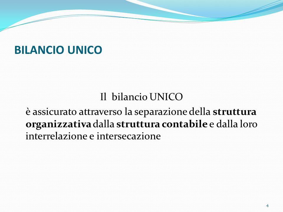 BILANCIO UNICO Il bilancio UNICO