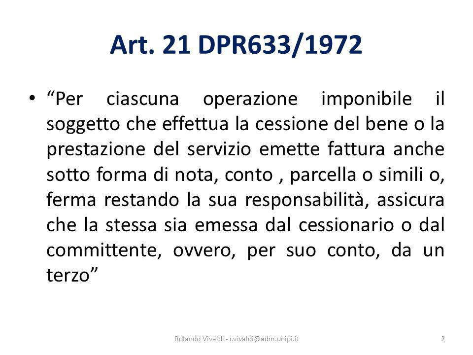 Rolando Vivaldi - r.vivaldi@adm.unipi.it
