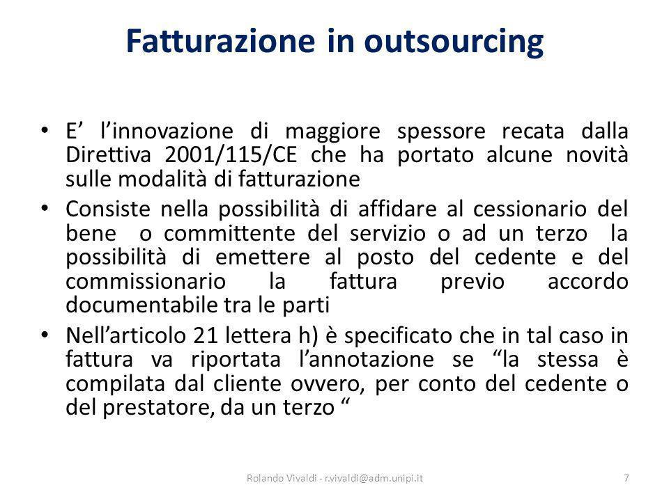 Fatturazione in outsourcing