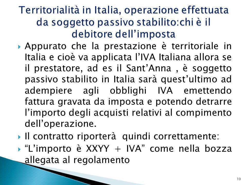 Territorialità in Italia, operazione effettuata da soggetto passivo stabilito:chi è il debitore dell'imposta