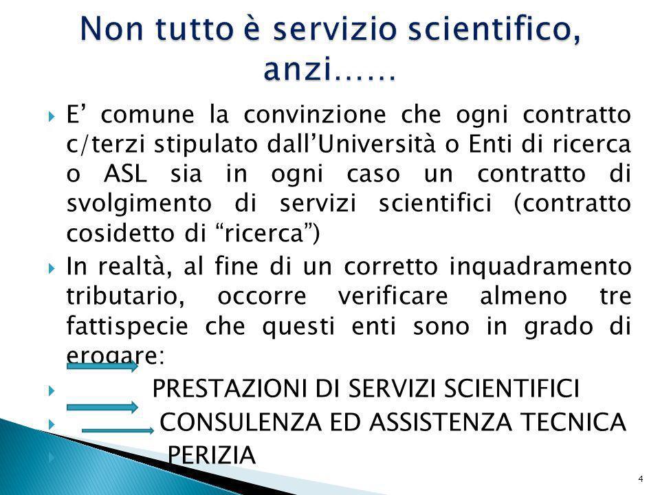 Non tutto è servizio scientifico, anzi……