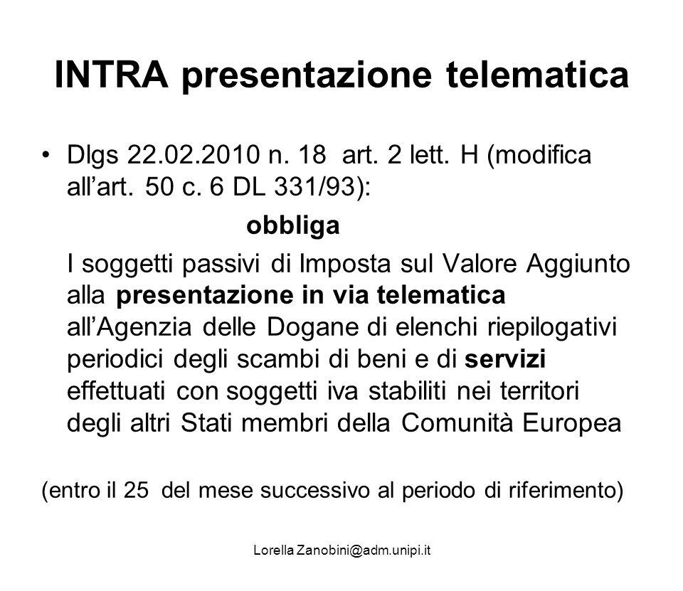 INTRA presentazione telematica