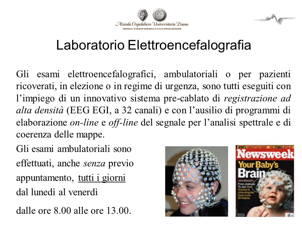 Laboratorio Elettroencefalografia