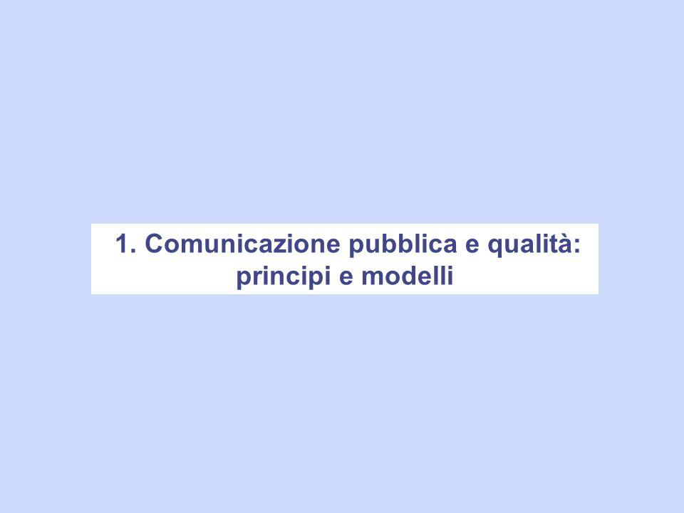 1. Comunicazione pubblica e qualità: principi e modelli