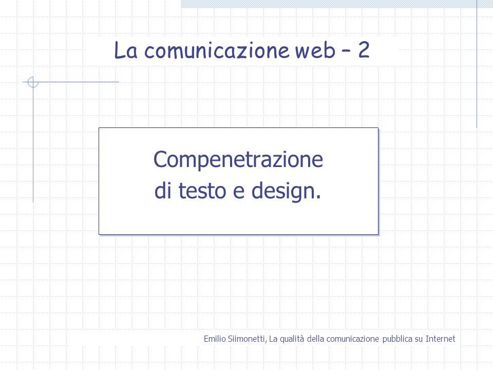 La comunicazione web – 2 Compenetrazione di testo e design.