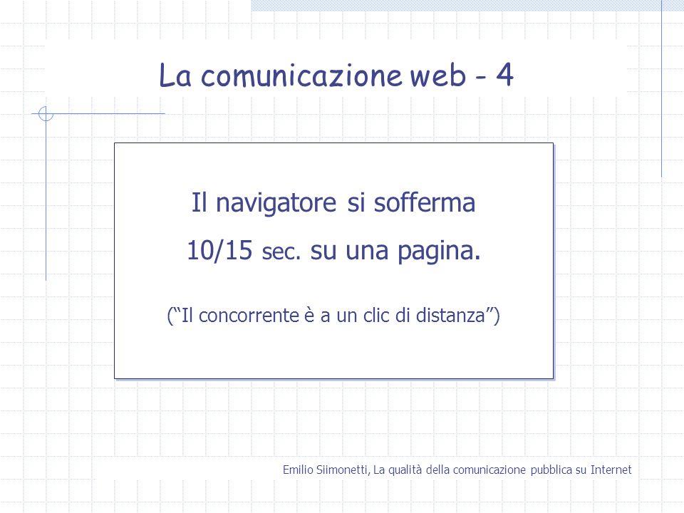 La comunicazione web - 4 Il navigatore si sofferma