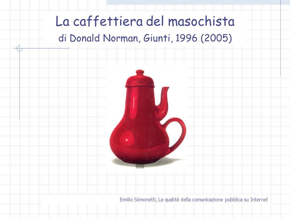 La caffettiera del masochista di Donald Norman, Giunti, 1996 (2005)