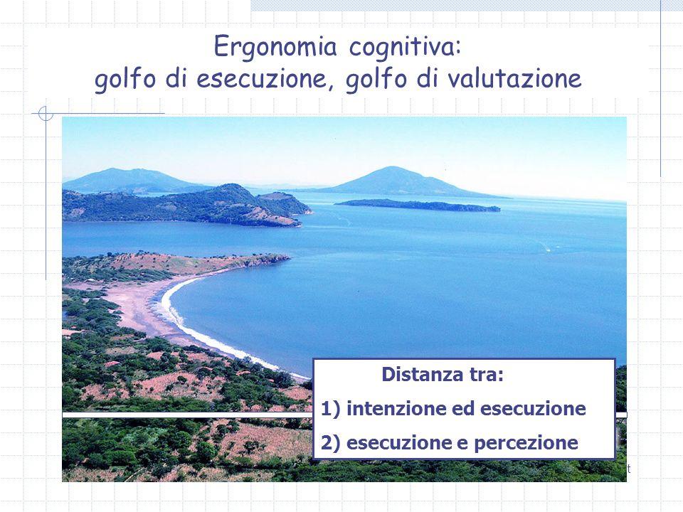 Ergonomia cognitiva: golfo di esecuzione, golfo di valutazione