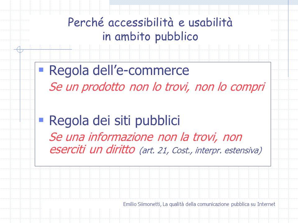Perché accessibilità e usabilità in ambito pubblico