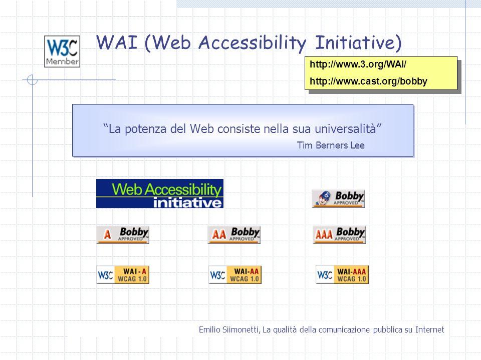 WAI (Web Accessibility Initiative)