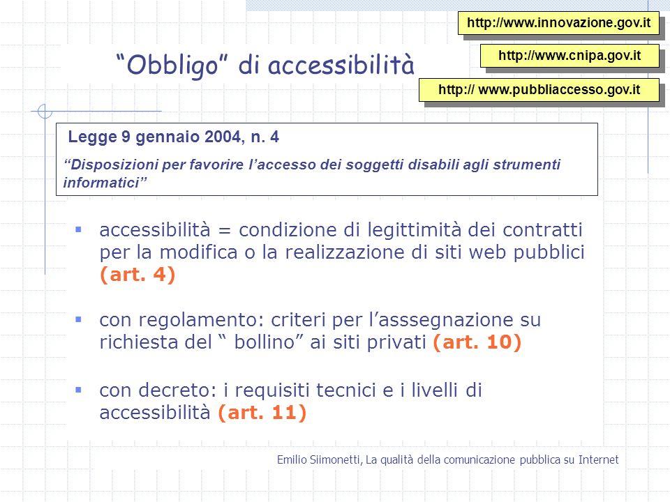 Obbligo di accessibilità