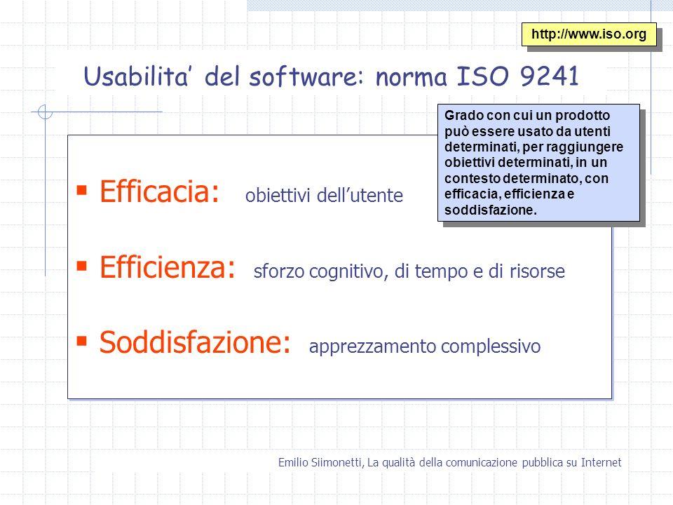 Usabilita' del software: norma ISO 9241