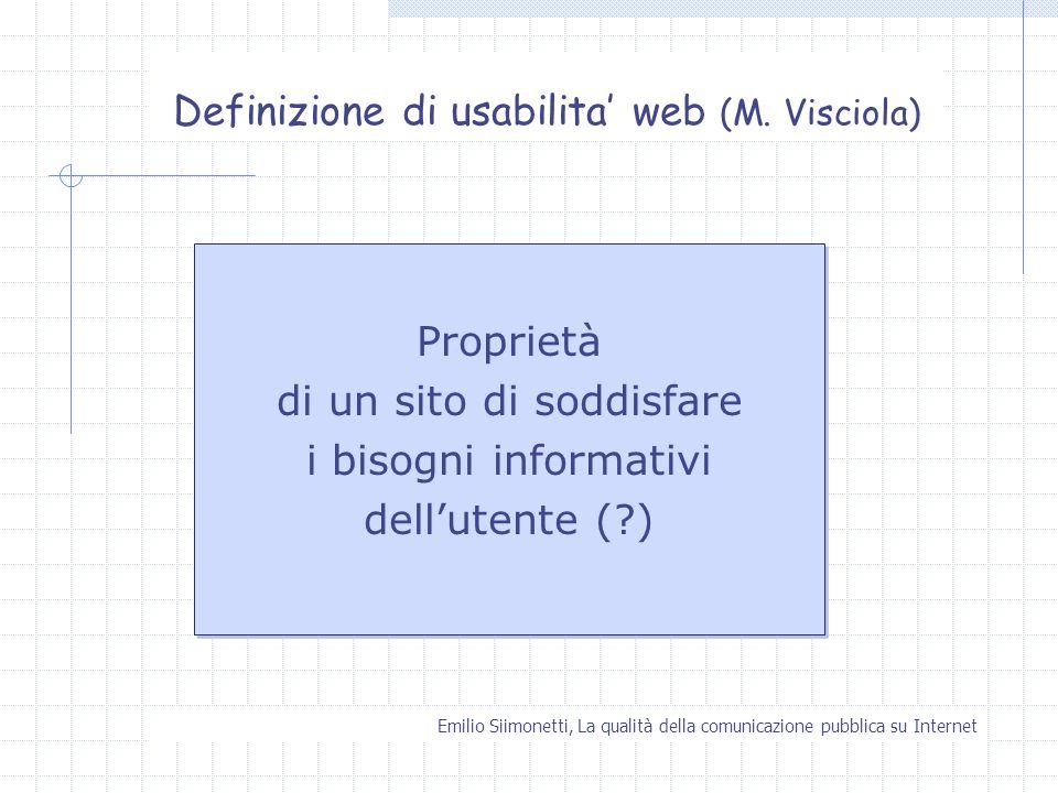 Definizione di usabilita' web (M. Visciola)