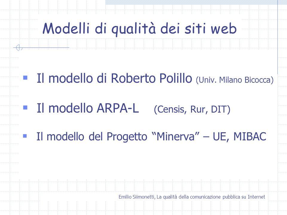 Modelli di qualità dei siti web