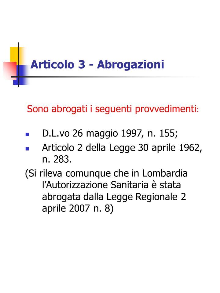 Articolo 3 - Abrogazioni
