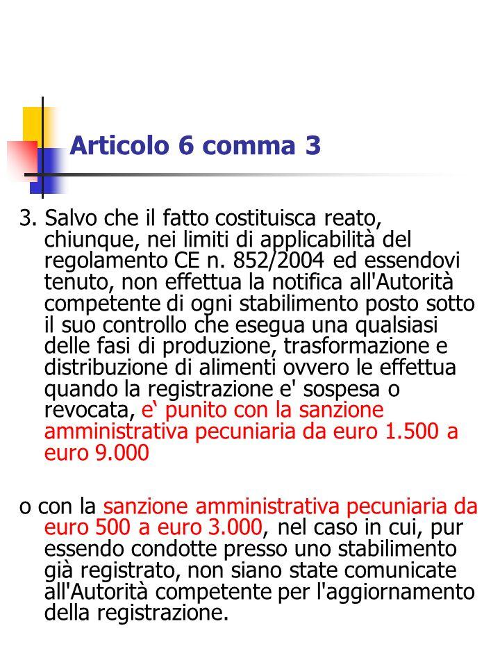 Articolo 6 comma 3