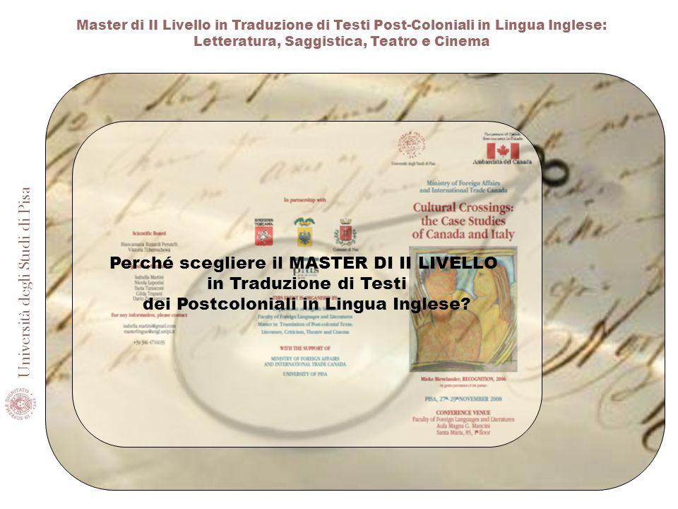 Perché scegliere il MASTER DI II LIVELLO in Traduzione di Testi