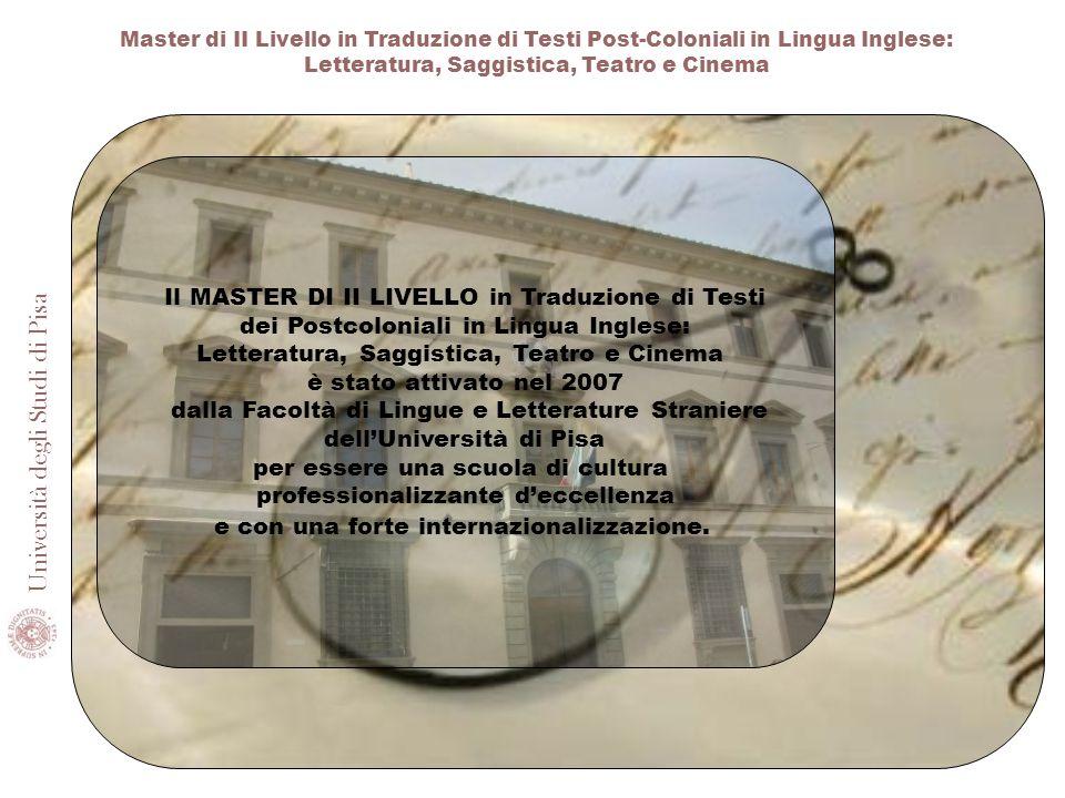 Il MASTER DI II LIVELLO in Traduzione di Testi