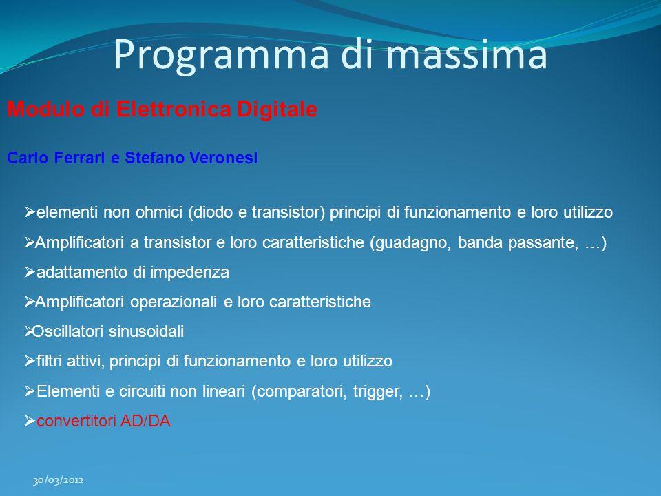 Programma di massima Modulo di Elettronica Digitale