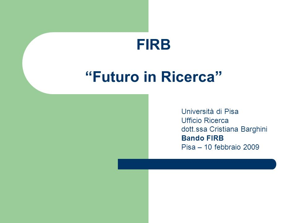 FIRB Futuro in Ricerca