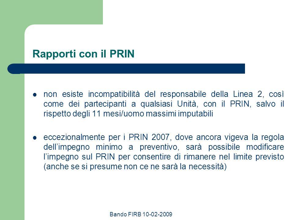 Rapporti con il PRIN