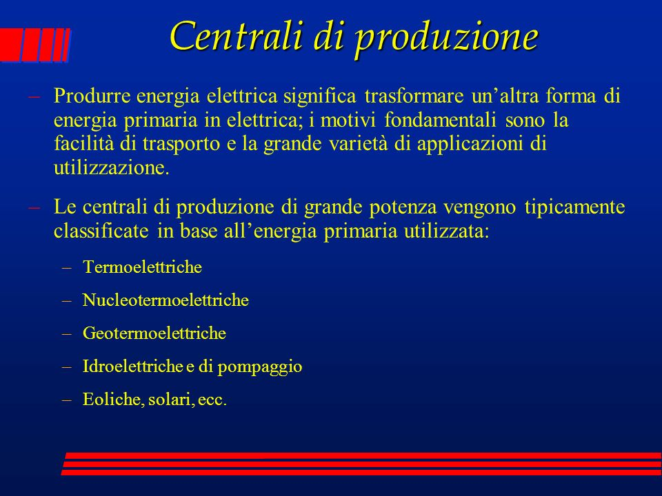 Centrali di produzione