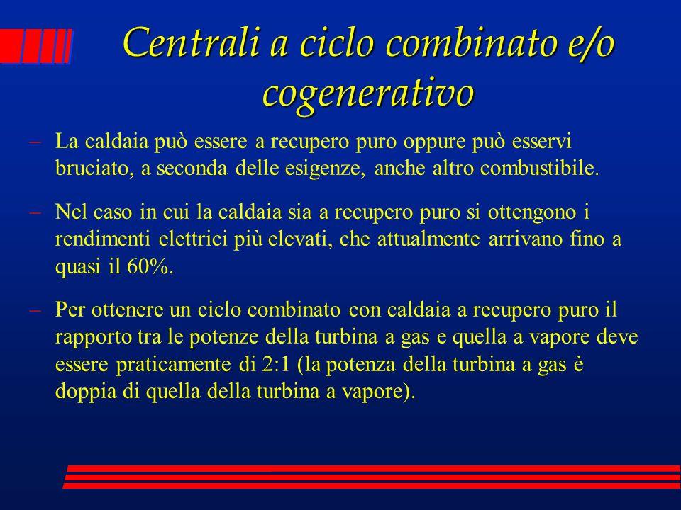 Centrali a ciclo combinato e/o cogenerativo