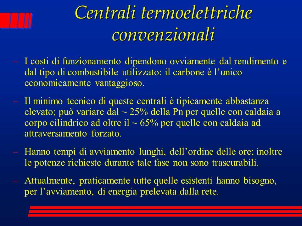 Centrali termoelettriche convenzionali