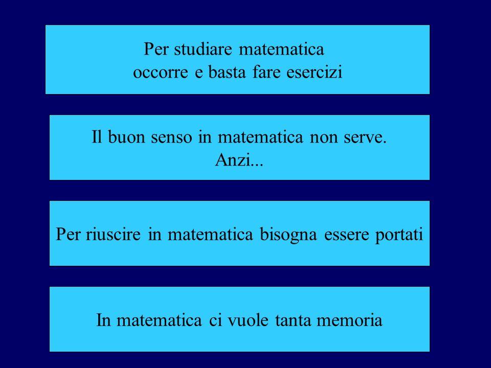 Per studiare matematica occorre e basta fare esercizi