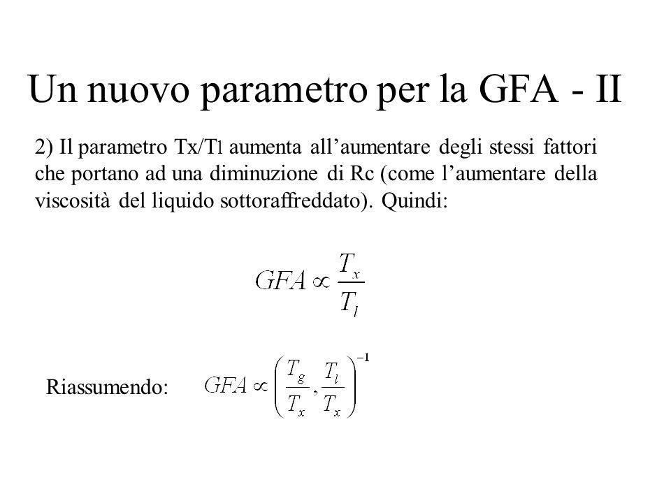 Un nuovo parametro per la GFA - II
