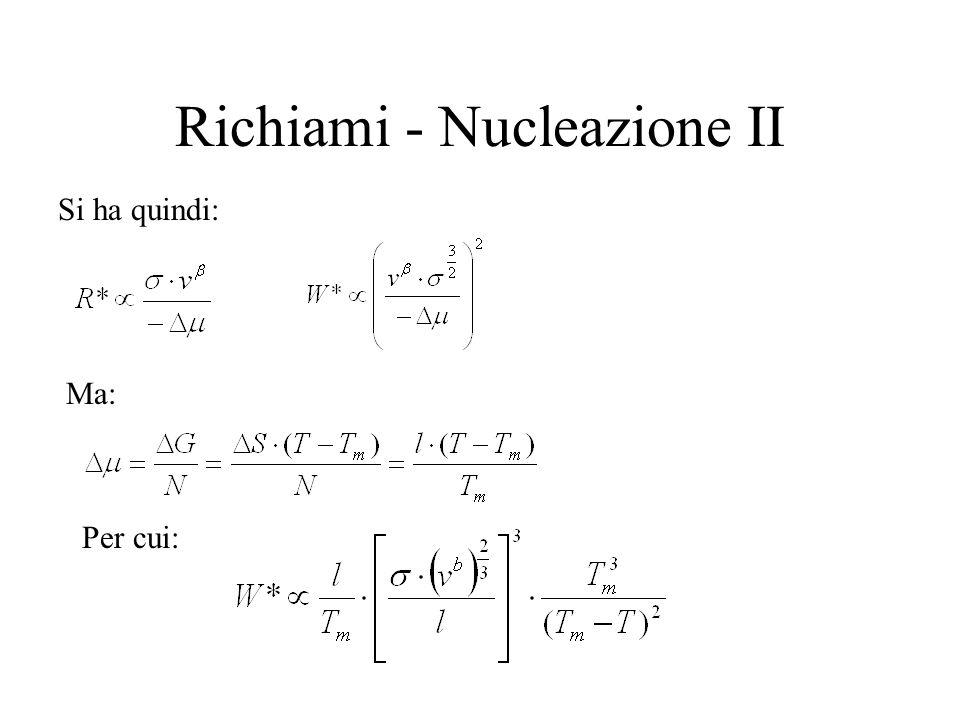 Richiami - Nucleazione II