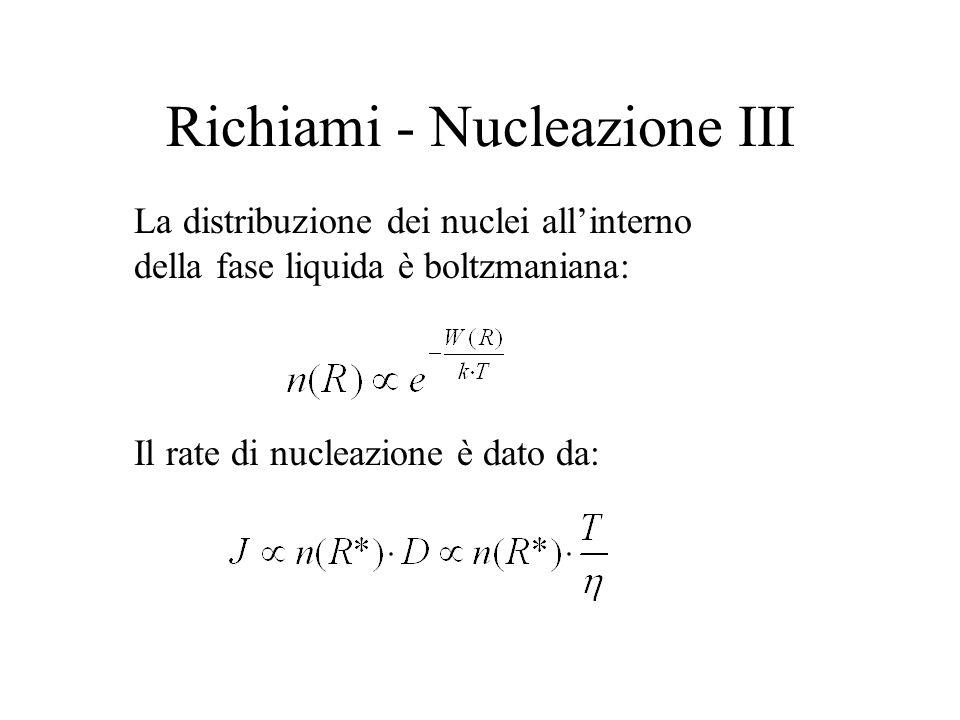 Richiami - Nucleazione III