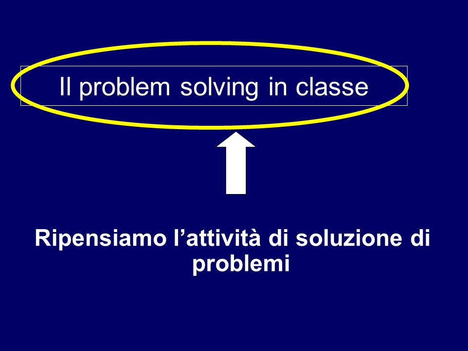 Il problem solving in classe