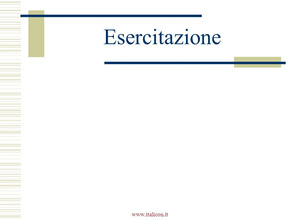 Esercitazione www.italicon.it
