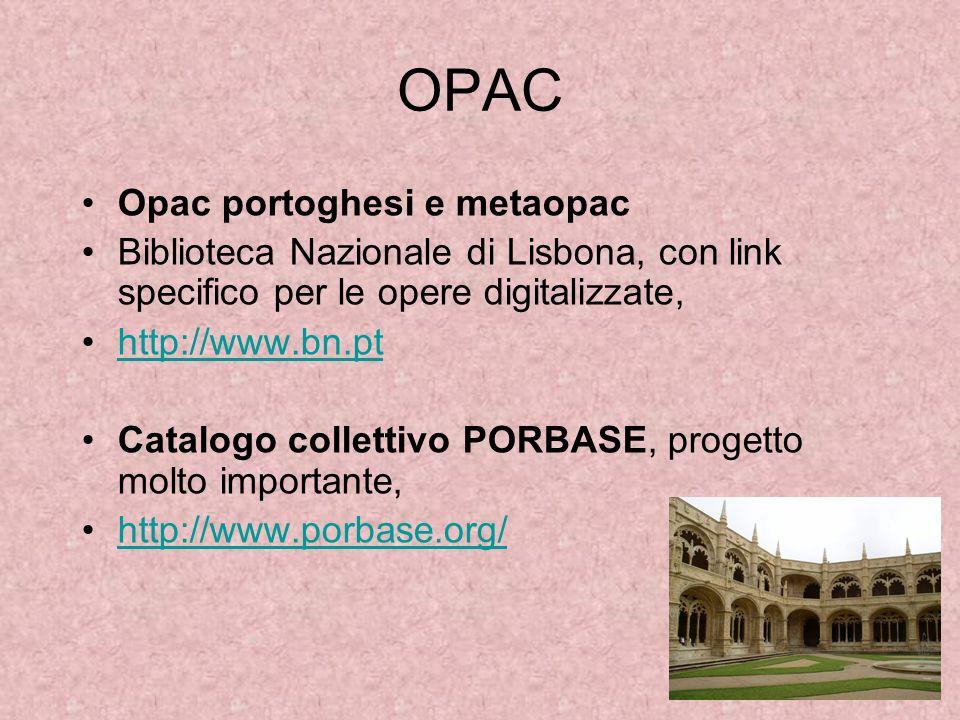 OPAC Opac portoghesi e metaopac