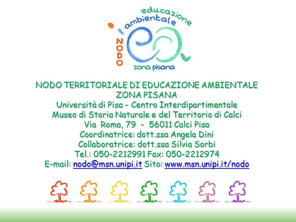 NODO TERRITORIALE DI EDUCAZIONE AMBIENTALE ZONA PISANA
