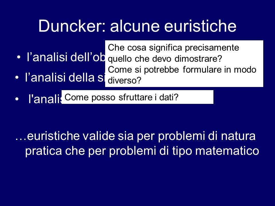 Duncker: alcune euristiche