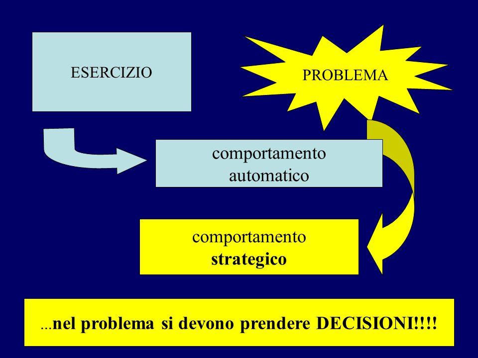 ...nel problema si devono prendere DECISIONI!!!!