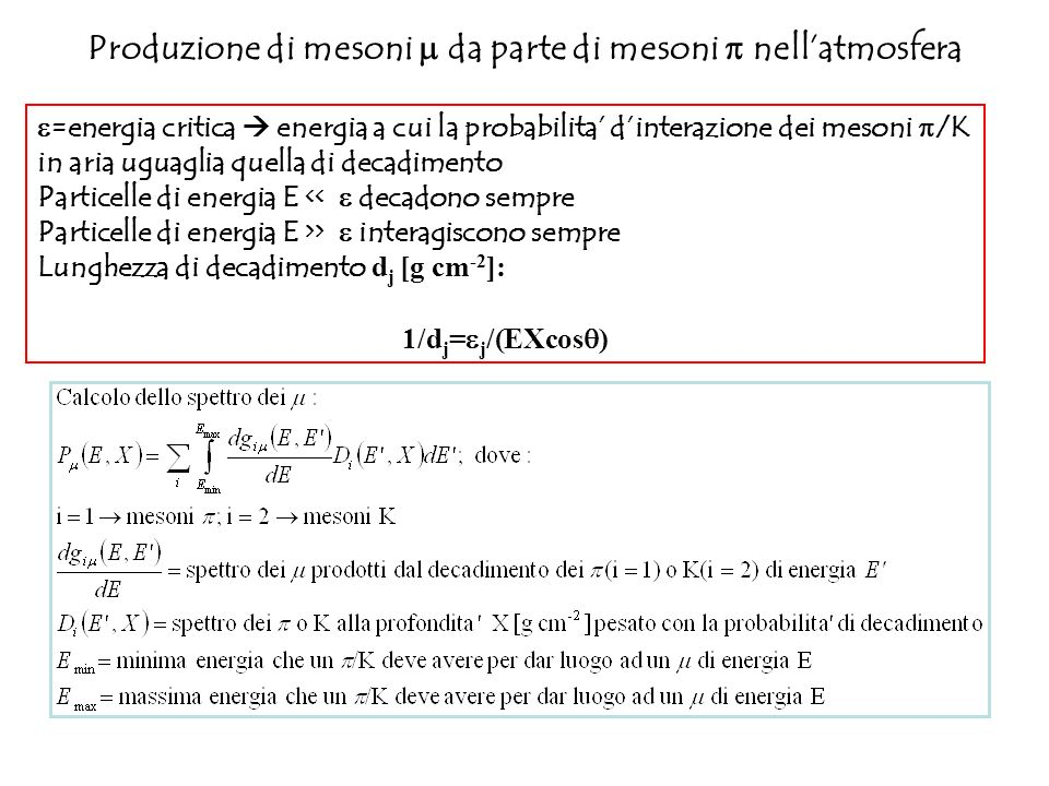 Produzione di mesoni m da parte di mesoni p nell'atmosfera